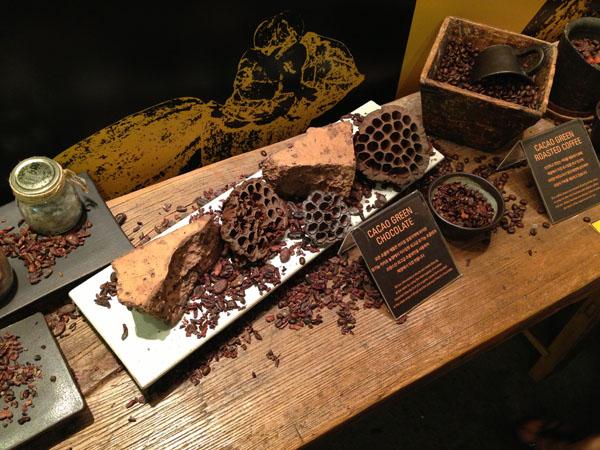 입구에 있는 카카오 열매