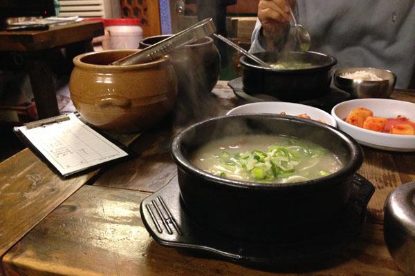 설렁탕 맛있는, 백송 with 민웅