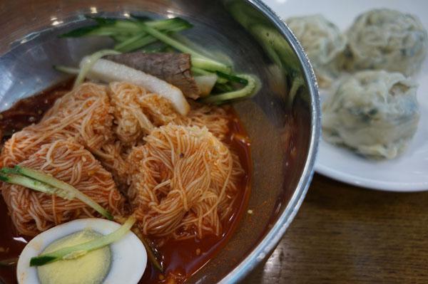 비빔냉면과 만두 반접시 @대치동 함흥면옥